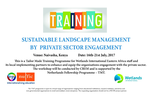 Sustainable landscape management by private sector engagement